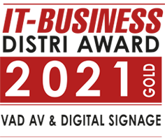 IT-Business Distri Award VAD AV und Digital Signage Gold 2021