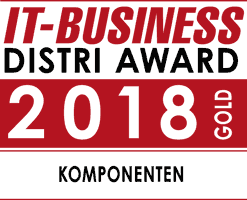 IT-Business Distri Award Komponenten Gold 2018